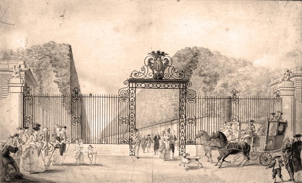 Poitiers Gaspard-Duche-De-Vancy-The-Entrance-to-Blossac-Park-in-Poitiers